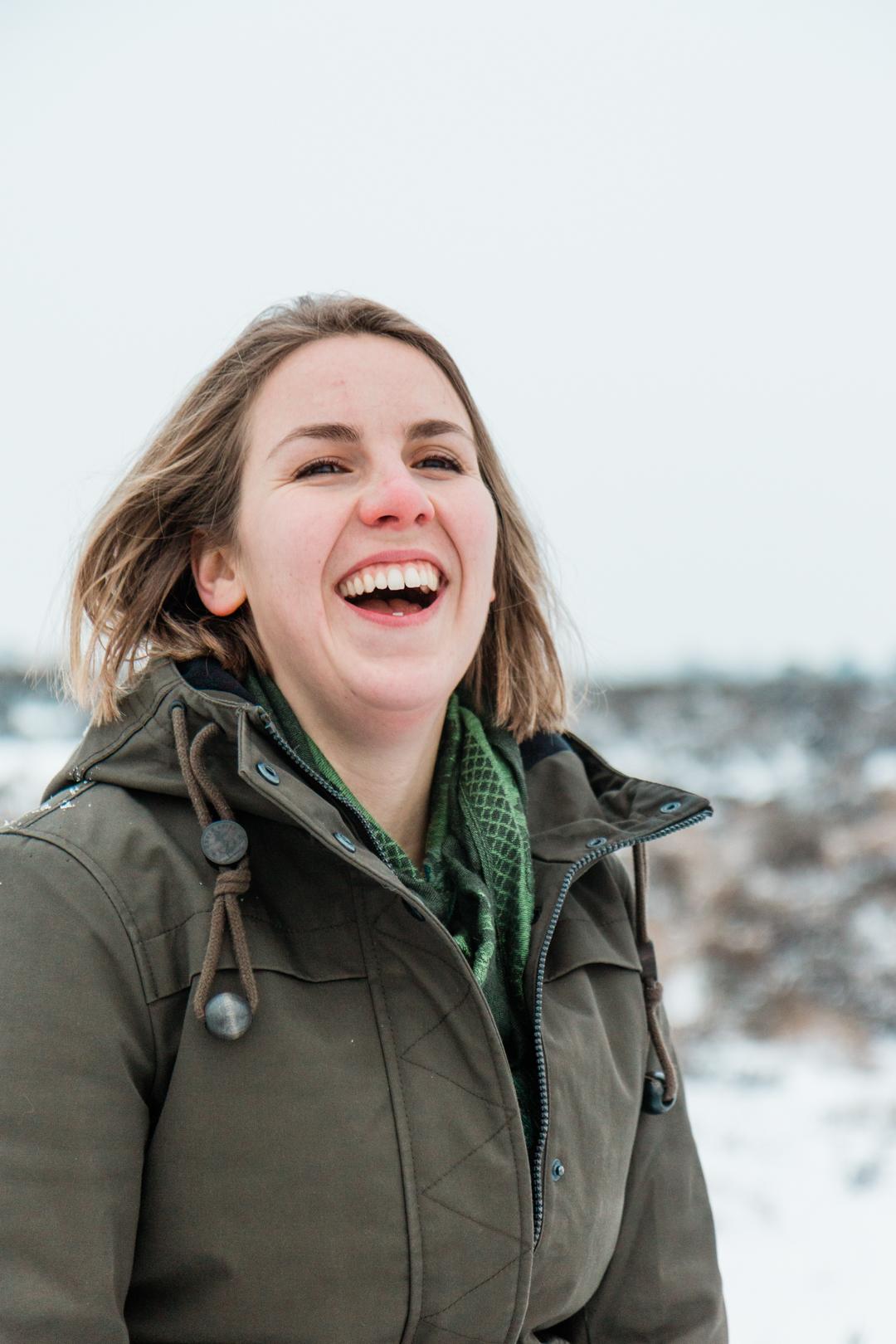 Carlijn in de sneeuw